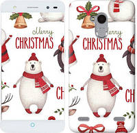"Чехол на ZTE V7 Lite Merry Christmas ""4106u-434-657"""