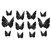 Бабочки наклейки 3D (обьемные) на стену. Домашний декор
