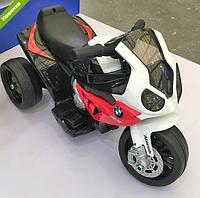 Детский мотоцикл JT 5188 L-3 BMW, кожаное сиденье красный ***