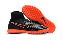 Бутсы сороконожки Nike MagistaX Proximo II TF black/orange, фото 1