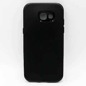 Чехол накладка для Samsung Galaxy A5 2017 A520 силиконовый IPAKY, Carbon texture, Черный
