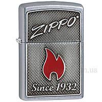 Зажигалка zippo 29650 Zippo & Flame 2018 Street Chrome, фото 1