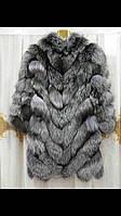 Полушубок из меха чернобурки