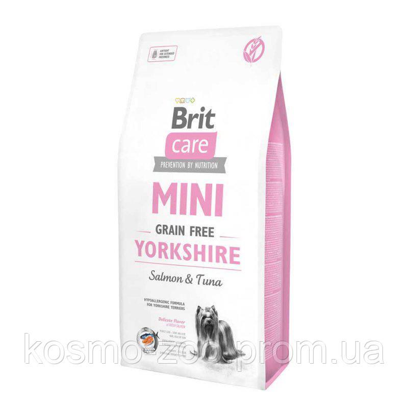 Брит Кеа (Brit Care Mini Grain Free Yorkshire Salmon&Tuna) мини для собак породы йорк с лососем и тунцом 7кг