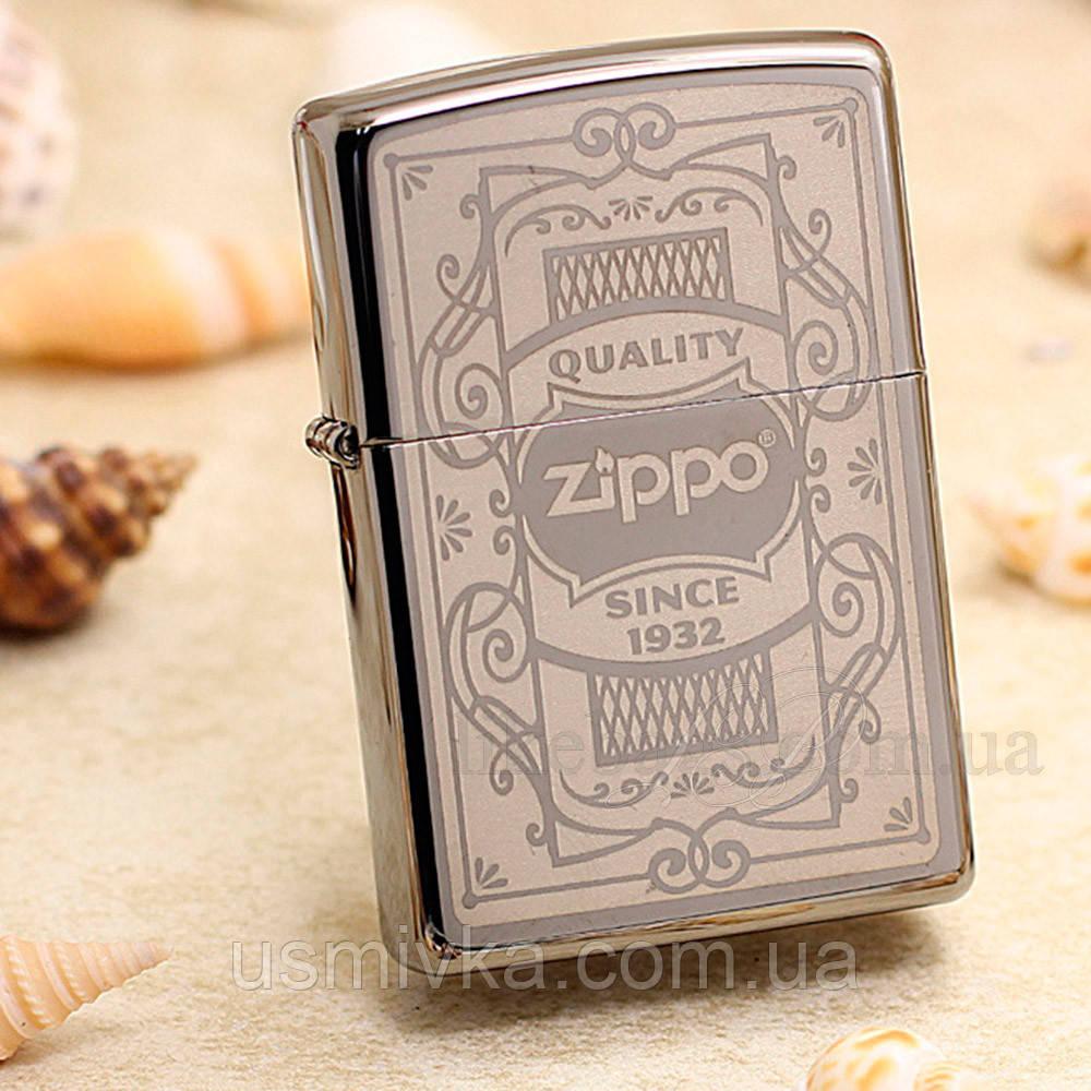 Зажигалка zippo 29425 Quality Zippo Black Ice