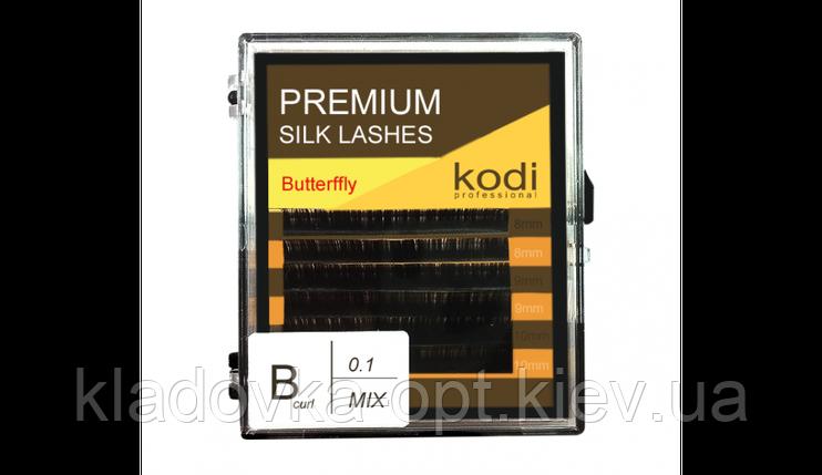 Ресницы B 0.1 (6 рядов: 8/9/10 мм) Kodi Butterfly, фото 2
