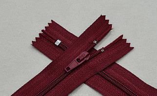 Брючная молния вишнёвого цвета арт.14012-163, цена за упаковку (100шт.)