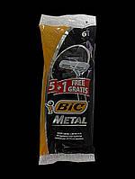 Набор одноразовых бритвенных станков Bic Metal в упаковке 5+1 шт Оригинал