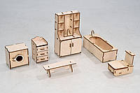 Мебель премиум для Кукольного домика - Ванная комната (3012)