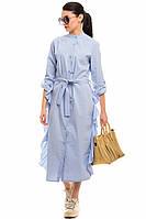 Голубое платье-рубашка normcore