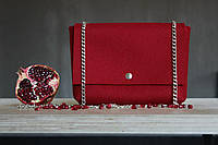 """Жіноча сумка з фетру """"Dense2"""" сумка ручної роботи від української майстерні PalMar, сумка с войлока, фото 1"""