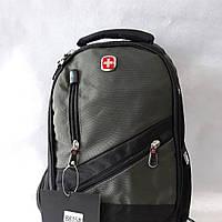 Рюкзак  фирмы Swissgear, модель 8815.  Небольшой городской  с разъемом под наушники. Новинка., цвет - хаки.