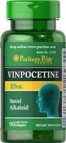 Винпоцетин для мозгового кровообращения, Puritan's Pride Vinpocetine 10 mg 90 Softgel