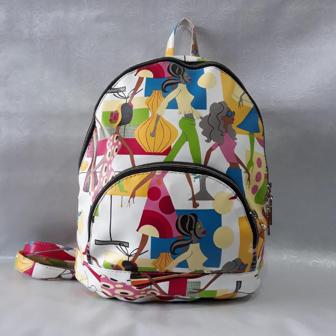 f66fad87cfc2 Стильный, яркий рюкзак для девушек. Женская модель, модный принт. Эко кожа.