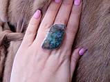 Кольцо с моховым агатом. Элегантное кольцо моховый агат в серебре 17-17,5 размер Индия!, фото 6