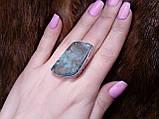Кольцо с моховым агатом. Элегантное кольцо моховый агат в серебре 17-17,5 размер Индия!, фото 2