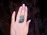 Кольцо с моховым агатом. Элегантное кольцо моховый агат в серебре 17-17,5 размер Индия!, фото 4