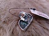 Кольцо с моховым агатом. Элегантное кольцо моховый агат в серебре 17-17,5 размер Индия!, фото 7