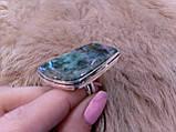 Кольцо с моховым агатом. Элегантное кольцо моховый агат в серебре 17-17,5 размер Индия!, фото 5