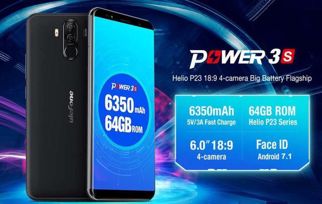 Ulefone Power 3S поддерживает одновременную зарядку четырех телефонов