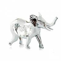 """Серебристая статуэтка с кристаллами Swarovski  """"Слоненок"""" , фото 1"""