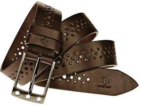 Ременьмужской кожаный Grande Pelle Finestre 311513408 шоколад 3,5см