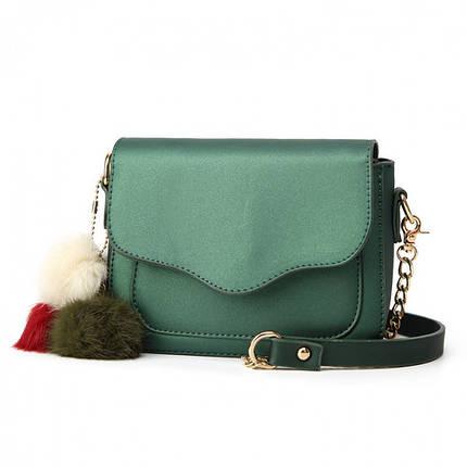 Сумка женская Hag Mini зелёная eps-6037, фото 2