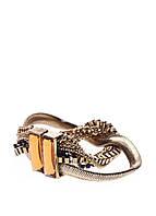 35031. Браслет из меди, покрытой золотом 24 карата. Хрусталь, застежка - магнит. 19 см.