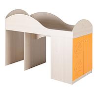 Детская кровать - чердак МДМ-2 Маугли Санти Мебель оранж