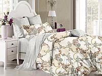 Двуспальный комплект постельного белья евро 200*220 хлопок  (8745) TM KRISPOL Украина