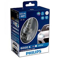 Лампы светодиодные PHILIPS 12985BWX2 H7 X-tremeUltinon +200% (2шт)