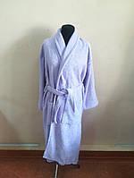 Махровый  халат сиреневого цвета  (L), фото 1