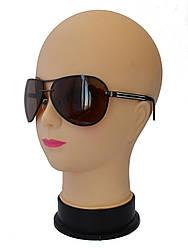 Мужские  поляризационные солнцезащитные очки  коричневые