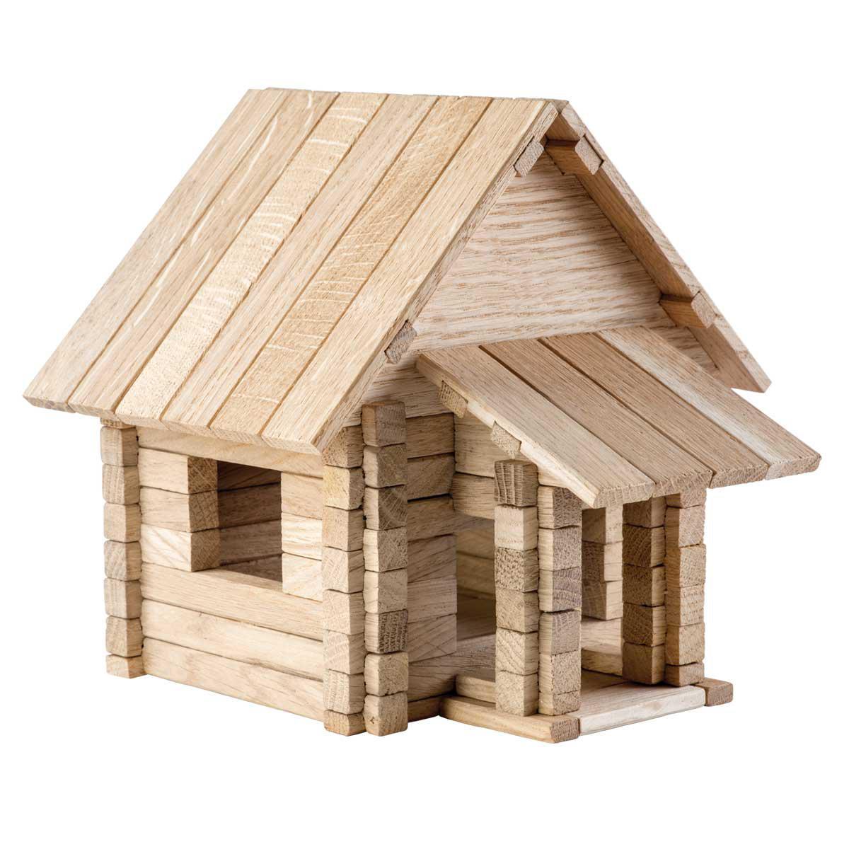 Деревянный конструктор Загородный дом 4 в 1