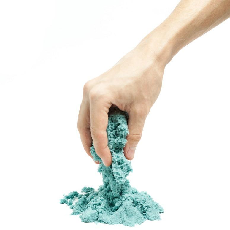 Кинетический песок (Supergum) синий 1000 гр + Формочки