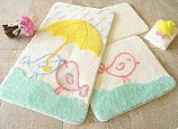 Набор ковриков для ванной комнаты 3 в 1 турция alessia