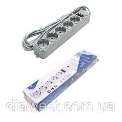 Сетевой фильтр-удлинитель;  число розеток: 5;  длина шнура: 5 м;   входная вилка: евро