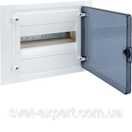 Щит Hager в/у з  прозорими дверцятами, 12 мод. (1х12), GOLF, фото 2