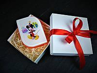 Увлажняющее мыло с картинкой Микки Маус с тортом