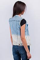 Жилетка модная женская 441K001 (Голубой)