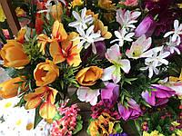 Искусственные цветы разные цвета в упаковке Букеты Тюльпаны