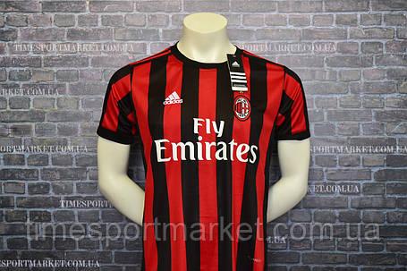Футбольная форма Милан 2017-2018 (домашняя) -оригинальное качество, фото 2