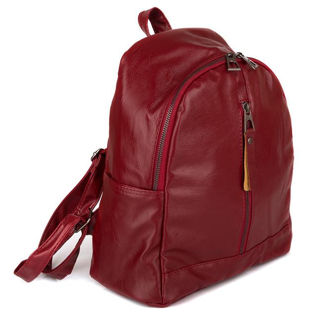женский городской рюкзак красный