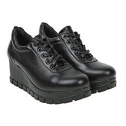 Туфли женские U.Spirit (кожаные, стильные, на танкетке, модные)