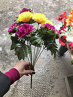 Искусственные цветы разные цвета в упаковке Гвоздики, фото 1