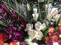 Шикарный букет из пионов Искусственные цветы разные цвета в упаковке, фото 1