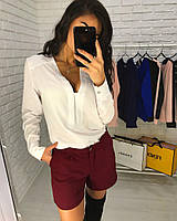 Женский костюм блузка и шорты