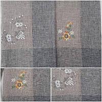 Льняная большая скатерть с вышивкой, 150х220 см., 540/480 (цена за 1 шт. + 60 гр.)