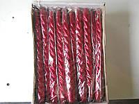 Свеча декоративная, витая, красная, фото 1