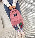 Большой вельветовый рюкзак с брелком., фото 2